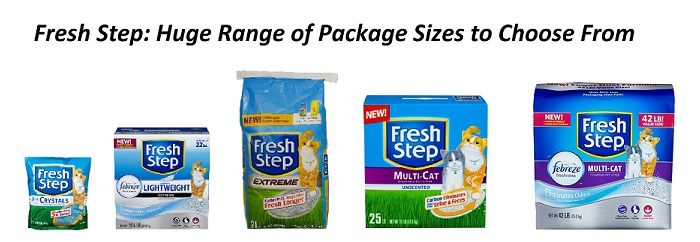 fresh step huge range of sizes