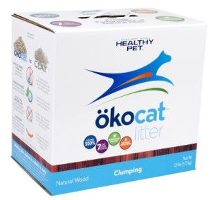 healthy pet okocat natural wood clumping