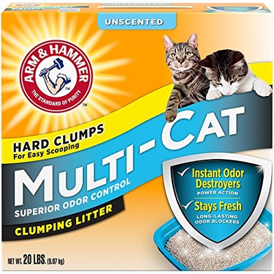 Arm & Hammer Multi-Cat Unscented Cat Litter 1 full