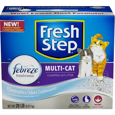 Fresh Step Multi-Cat with Febreze Freshness full