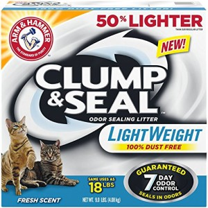 arm & hammer clump & seal lightweight fresh scent