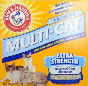 arm & hammer multi cat unscented clumping