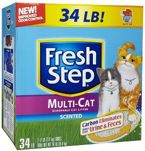 fresh step multi-cat scented cat litter review