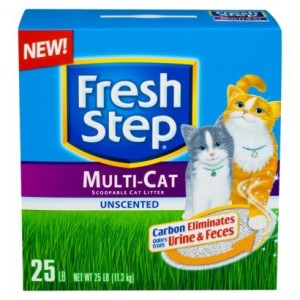 fresh step multi-cat unscented cat litter review