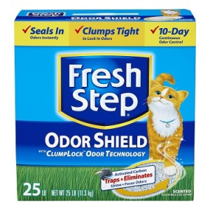 fresh step odor shield scented cat litter review