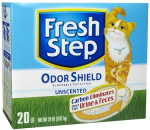 fresh step odor shield unscented cat litter review