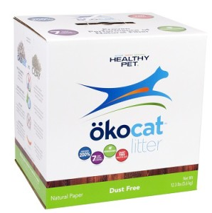 healthy pet okocat natural paper dust free cat litter review