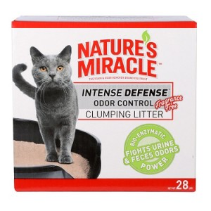 nature's miracle intense defense fragrance free clumping cat litter review