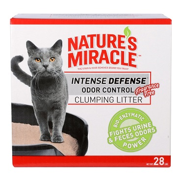 nature's miracle intense defense fragrance free clumping