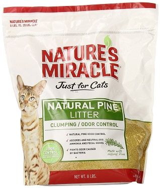 Nature's Miracle Just for Cats Natural Pine Cat Litter Review