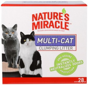 nature's miracle multi-cat clumping