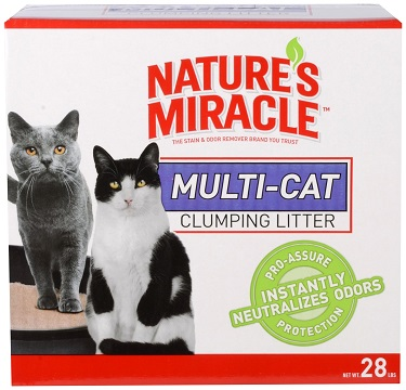 Nature's Miracle Multi-Cat Clumping Cat Litter Review