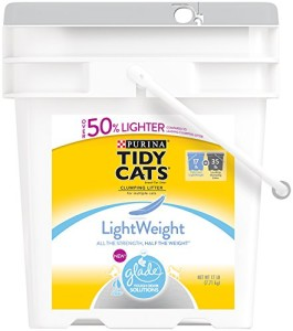 tidy cats lightweight with glad tough odor solutions