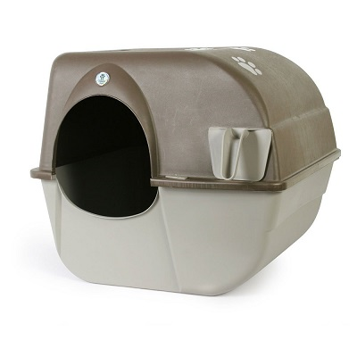 omega paw self cleaning litter box full