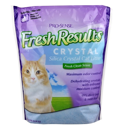 prosense fresh results crystal cat litter