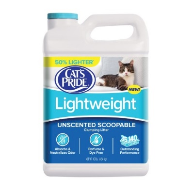 Cat's Pride Lightweight Scoopable Unscented Cat Litter full