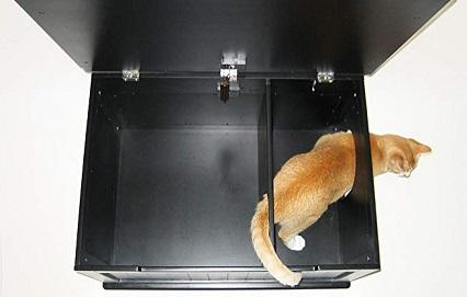 nora designer litter box above