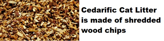 cedarific cat litter wood chips