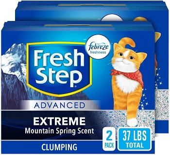fresh step extreme mountain spring scent cat litter review