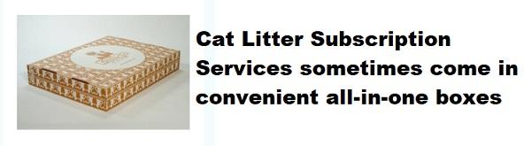 cat litter subscription box